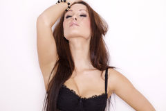 Portrait of a beautiful adult sensuality woman Royalty Free Stock Photos