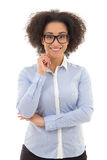 Portrait of beautiful african american business woman isolated o Stock Image