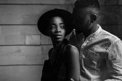Strong love connection. African American couple. Young fashionab. Portrait of a beautiful African American couple stock photography
