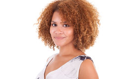 Portrait of a beautiful african american woman - Black people Stock Images
