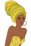 Portrait of beautiful African woman with earring Royalty Free Stock Images