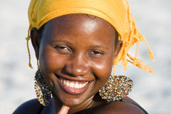 Portrait of a beautiful African woman Royalty Free Stock Image