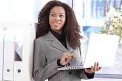 Portrait of beautiful afro businesswoman Stock Photos