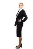 Portrait of beautiful air hostess. Stock Image