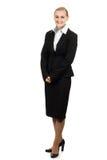 Portrait of beautiful air hostess. Stock Photo