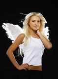 Portrait of a beautiful angel Stock Image