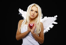 Portrait of a beautiful angel Royalty Free Stock Images