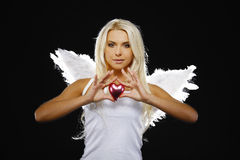 Portrait of a beautiful angel Stock Photos