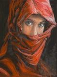Portrait of beautiful arabian woman in hijab Stock Image