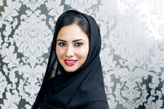 Portrait of a beautiful Arabian Woman smiling Royalty Free Stock Photo