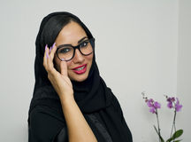 Portrait of a beautiful Arabian Woman wearing Hijab Royalty Free Stock Image