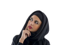 Portrait of a beautiful Arabian Woman wearing Hijab, Royalty Free Stock Photography