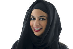 Portrait of a beautiful Arabian Woman wearing Hijab, Stock Image
