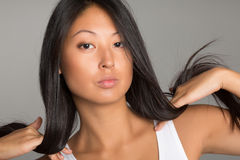 Portrait of beautiful Asian girl Stock Photos