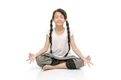 Portrait of beautiful asian girl meditating Stock Photography