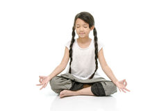 Portrait of beautiful asian girl meditating Stock Image