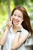 Portrait beautiful Asian Girl. In studio Royalty Free Stock Photo