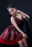 Portrait of beautiful Asian girl Royalty Free Stock Images
