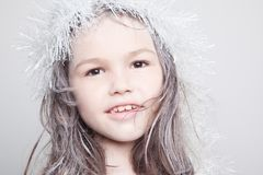 Little Snow Maiden royalty free stock photo