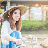 Portrait of a beautiful asian woman Royalty Free Stock Photography