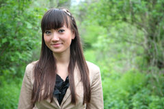 Portrait of a beautiful asian woman outdoor Royalty Free Stock Photo