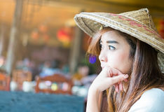 Portrait of a beautiful asian woman Stock Images