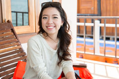 A portrait of beautiful asian woman Stock Images