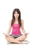 Portrait of a beautiful asian woman in yoga pose Stock Photography