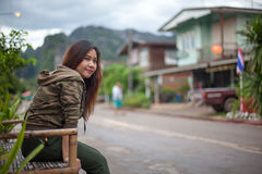 Portrait of beautiful asian young woman Stock Image