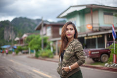 Portrait of beautiful asian young woman Royalty Free Stock Images