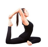 Portrait of beautiful asian younger woman posting yoga for healt Royalty Free Stock Image