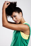 Portrait of a beautiful athletic woman Royalty Free Stock Photos