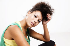 Portrait of a beautiful athletic woman Stock Images
