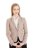 Portrait of beautiful attractive business woman. royalty free stock image