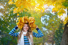 Portrait of beautiful attractive stylish young woman in autumn Stock Image