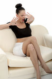 Portrait Of A Beautiful Attractive Young Caucasian Woman Relaxin Stock Image
