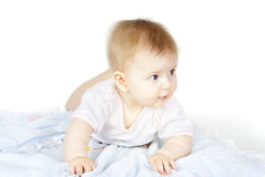 Portrait of a beautiful baby Stock Image