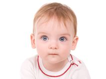 Portrait of a beautiful baby girl Stock Image