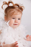 Portrait of a beautiful baby girl Stock Photos