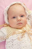 Portrait of beautiful baby girl Stock Images