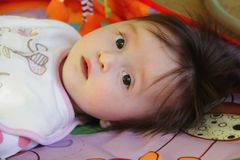 Portrait of a beautiful baby girl Royalty Free Stock Photo