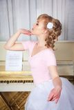 Portrait of a beautiful ballerina Royalty Free Stock Images