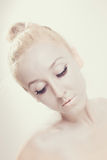 Portrait of a beautiful ballet dancer Stock Photos