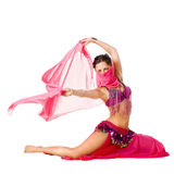 Portrait of a beautiful belly dancer Royalty Free Stock Images