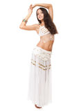 Portrait of a beautiful belly dancer Stock Photos