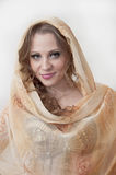 Portrait of beautiful belly dancer Stock Images