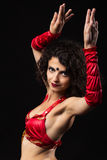 Portrait of a beautiful belly dancer Royalty Free Stock Photo