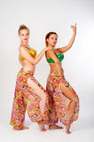 Portrait of a beautiful belly dancers Stock Photos