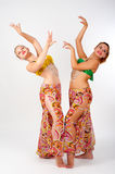 Portrait of a beautiful belly dancers Stock Photography