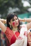 Portrait of Beautiful Bengali girl Stock Image